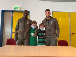 Ousman Touray und Marko Dedovic