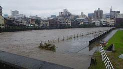 10日の田川の様子