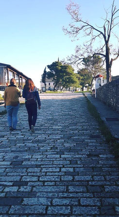 Sightseeing the old town of Ioannina, with Dora