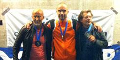 Senioren 40+: 3. Nikola Gojkovic (SUI), 1. Christian Vogel (SUI), 2. Thomas Gross (GER)