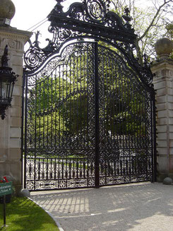 The Front Gate of The Breakers