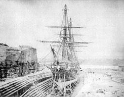 SMS Bismarck im Dock von Sydney