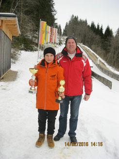 Dominik Maier mit Sportwart Oskar Knauder bei den Österreichischen Meisterschaften in Mariazell (Foto: RC Mondi Frantschach)