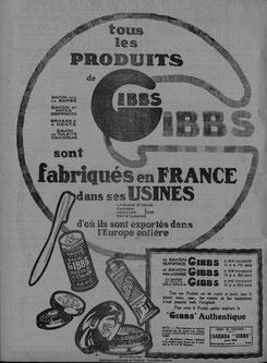 Publicité de 1923