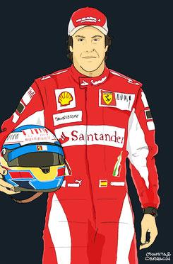 Fernando Alonso by Muneta & Cerracín