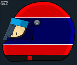 Helmet of Jean Pierre Jabouille by Muneta & Cerracín