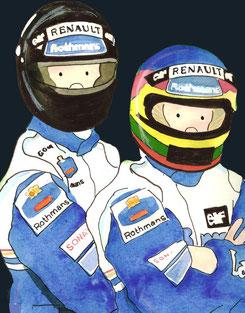 Damon Hill & Jacques Villeneuve by Muneta & Cerracín
