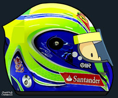 Helmet of Felipe Massa by Muneta & Cerracín