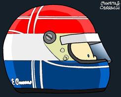 Helmet of Erik Comas by Muneta & Cerracín