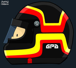Helmet of Stefan Bellof by Muneta & Cerracín