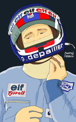 Helmet of Patrick Depailler by Muneta & Cerracín