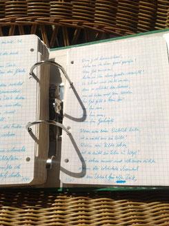 Petra Mettke/Gigabuch Michael 02/Originalordner/1993/Songtext aus dem Notat 100 auf Seite 1167