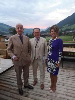 Prof. Dr. Georg Zanger gemeinsam mit Dr. Jabloner und Bundeskanzlerin Dr. Bierlein