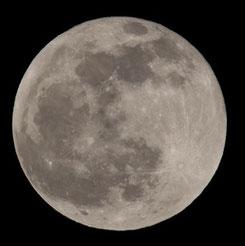 地球に向けている月の面
