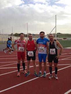 De izq. a der. Miguel Ángel Botella, Paco Dorado, Kiki Somé y Lucas Carmona.