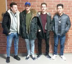 v.l.n.r.: Fabian, Florian, Lorenzo und Zhen