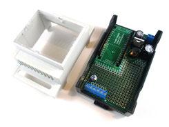 cap rail enclosure for NodeMCU ESP8266