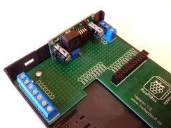 RasPiBox mit montiertem Spannungsregler