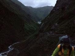 Alpen wandern dunkel Mädchen Oberstdorf E5