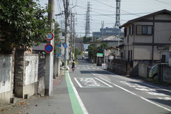 川越電気鉄道の軌道跡