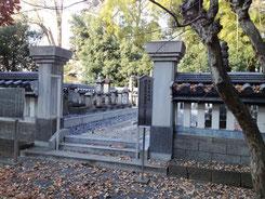 坂戸の永源寺にある島田家の墓所