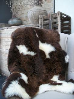 Ruime keuze schapenvachten bij Sfeer & Smaak, landelijke decoratie en streekproducten