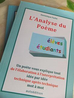 Manuel didactique : l'analyse du poème