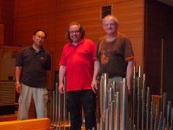von links nach rechts: Ikuo Nakai, Andreas Seul und Jörg Petereit (Foto: Nami Uchiyama)