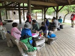 ハイキングの安全管理を考えるグループワーク