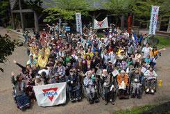 車椅子登山のボランティアの皆さん