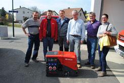 Martin Brandner, Johann Waschl, Robert Lochner, Alfred Dworak, Alois Kohl und Susi Oberaufner (von links)