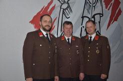 Mario Hofbauer, Johann Waschl, Hannes Pucher (von links)