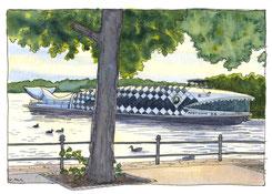 L. Bouquet nach P.A. Marchais auf Grundlage einer Skizze Humboldts: Der Vulkan Cayambe, 1810, kolorierter Kupferstich, Quelle: privat