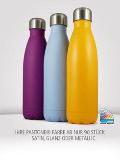 Isolierflasche nach pantone, Isolierflasche bedrucken, Isolierflasche  mit Logo, Isolierflasche bedruckt, Isolierflasche Farben, Isolierflasche ab 100 Stück