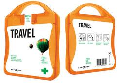 Erste Hilfe Set Reisen, Erste Hilfe Set Urlaub, Erste Hilfe Set unterwegs, Erste Hilfe Set bedrucken, Erste Hilfe Set mit Logo, Erste Hilfe Set bedruckt