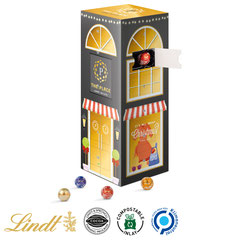 Adventskalender Lindt, Adventskalender Schokolade, Adventskalender bedrucken, Adventskalender mit Logo, Adventskalender Lindor, Adventskalender Tower, Adventskalender Mini Kugeln