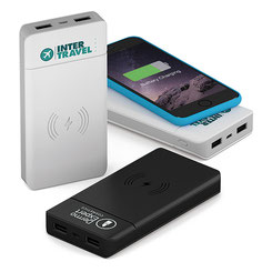Powerbank mit Induktion, Werbemittel Induktion, Induktion Smartphone, Powerbank Induktion, Induktion Powerbank, Induktion, QI-Ladenfunktion,