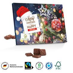 Adventskalender Weihnachten, Adventskalender günstig, Adventskalender bedrucken, Adventskalender mit Logo, Adventskalender Lindt