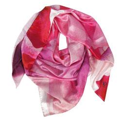 Seidentuch Heart of Rose. Die bunte Welt der Rose. Rot, Geschenk, Exklusiv, Geschenkidee. Seidentücher, Accessoires und Fashion von Pattern of Earth Berlin.