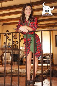 Vestido Camisero Escoces