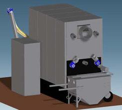 Pelletkessel mit automatischer Ascheaustragung
