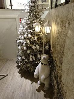 クリスマスツリー 白クマ