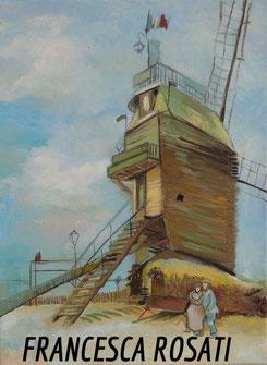 il mulino della galette, copia d'autore Vincent Van Gogh, olio su tela, cm30x40 2014