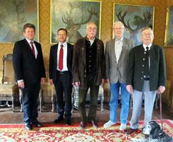 v.l. Karl Apel, Dr. Nicolas Gatzke, Dr. Erich Tom Post, Detleff Müller und Peter Umber