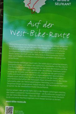 Die West Bike Route