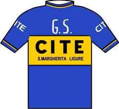 Foto courtesy: Daniel Schamps, la maglia del GS.Cite di S.Margherita Ligure presente al !° Trofeo Laigueglia nel 1964.