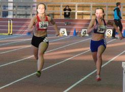 Sarina Lautner im 60m-Finale der U16