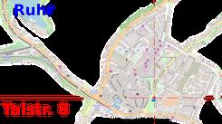 Anfahrtskizze Talstraße 8 in Hattingen an der Ruhr
