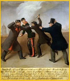 Am 18. Februar 1853 machte er, wie es die Gewohnheit des Privatiers Ettenreich war, einen Spaziergang zur Kärntnertor-Bastei. Dabei wurde er Zeuge, wie der Schneidergeselle János Libényi versuchte, den Kaiser zu erstechen.