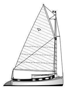 Zeichnung Catboot Seezunge